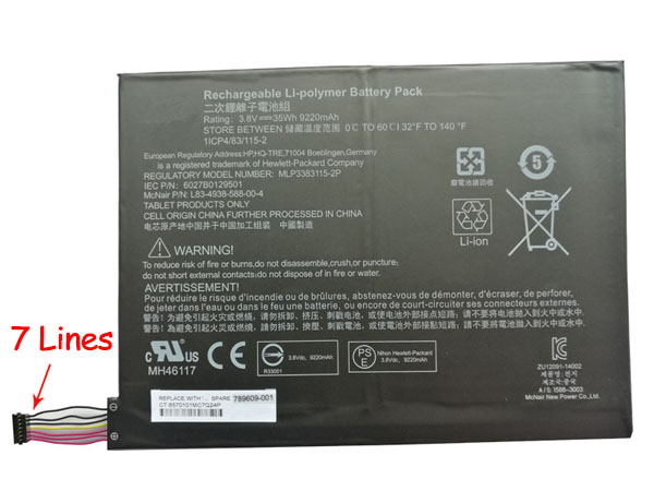 Tablet Akku 789609-001